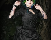 Mina Gothic Dracula Victorian Steampunk Gown Custom Your size and color