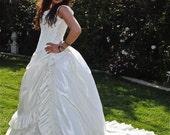 Victorian Reproduction Steampunk Wedding Corset and Skirt Set Custom