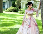 Valentina Romantic Off Shoulder Fantasy Victorian Gown Custom