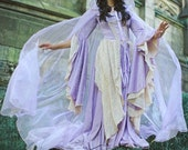 Lady Gwen Fantasy Medieval Velvet and Lace Gown and Cape Custom