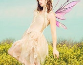 Short Pixie Fairy Style Adults Dress in Silk Custom Color Size