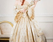 Ultimate Fantasy Marie Antoinette Lace Back Sparkle Gown Custom - RomanticThreads