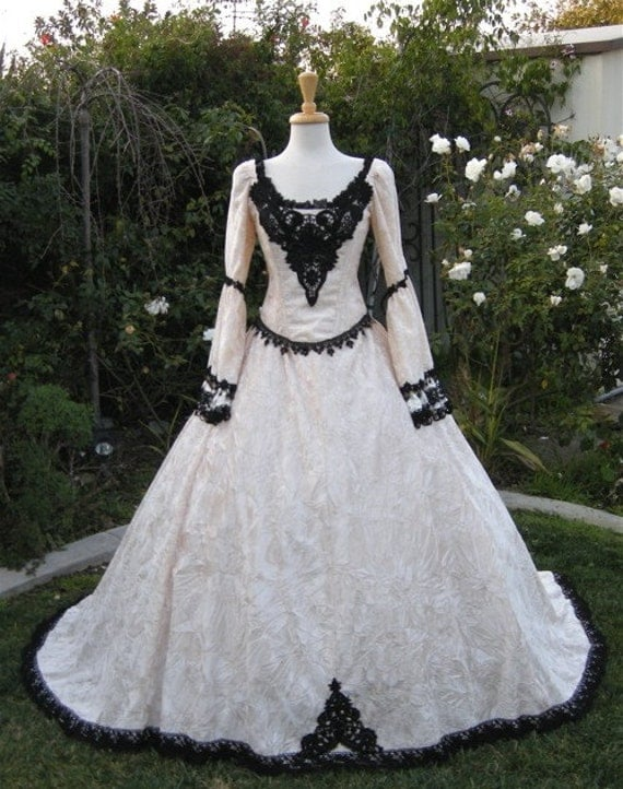 Items similar to gothic renaissance fairy medieval wedding for Medieval style wedding dress