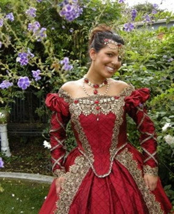 Renaissance Festival Wedding Dresses: Items Similar To Elizabethan Tudor Medieval Jewelry Set