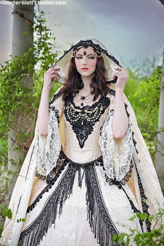 Items similar to gothic medieval renaissance pretty for Renaissance inspired wedding dress