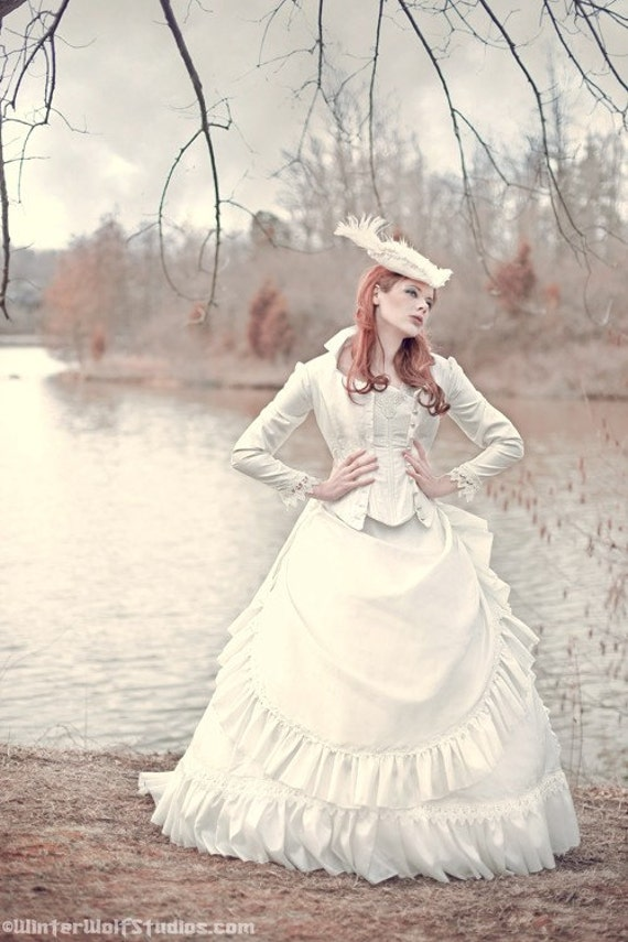 Items similar to victorian reproduction steampunk corset for Victorian inspired wedding dress