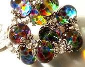 CottageCove Summer Constellation Set Glass Beads Handmade Lampwork Set SRA