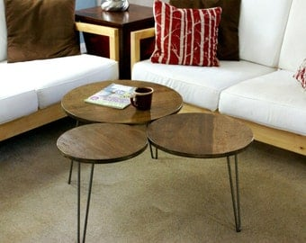 Mid Century Modern Tri-Circles Coffee Table made to order