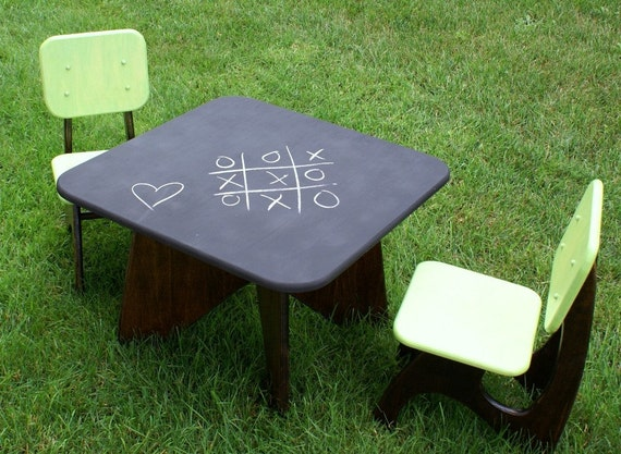 Modern Child Table set - 2 chair option reserved for Kim