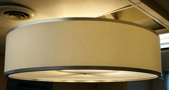 Custom 48 Inch Drum Pendant Light Fixture Reserved For Ashley