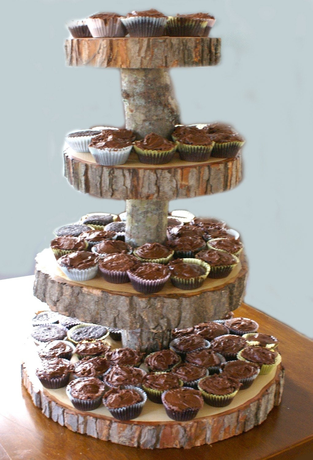 4 Tier Tree Slice Large Cupcake Stand