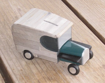 Little Truck Bank with a Green Hood (no. TG)