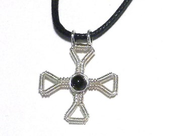 Small Silver Wrapped Cross