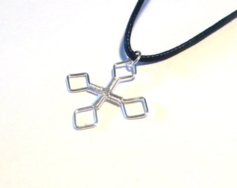 Silver Wrapped Gothic Style Cross