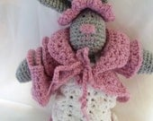 Crochet Pattern for Cute Rabbit Doll and Clothes Set