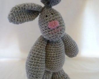 Crochet Pattern for Jointed Bunny Rabbit  - Auntie Burrows -  This is for the Rabbit ONLY