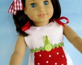 SALE - PDF e-Pattern - Strawberry and Watermelon Set for 18 Inch Dolls