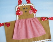 Apron Christmas Sewing Pattern for Children - Gingerbread Girl, Snowman and Plain Knot Apron - PDF ePattern