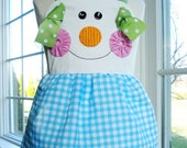 SALE - PDF ePattern - Gingerbread Girl, Snowman and Plain Knot Aprons Sewing Pattern for Children - Three Sizes