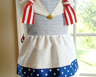 SALE - PDF ePattern - Sailor and Clown Knot Aprons Sewing Pattern for Children - Three Sizes