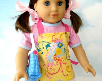 18 inch American Girl Doll Clothes Sewing Pattern - Dress, Aprons & Bags - PDF ePattern