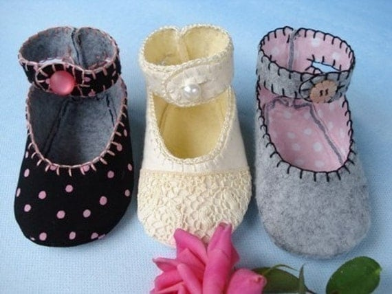 SALE - PDF ePattern Doris Jane Baby Shoes with Ankle Straps Sewing Pattern
