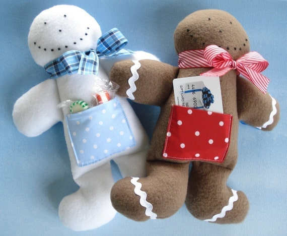 Christmas Gingerbread Man Toy Sewing Pattern