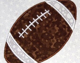 Football-machine embroidery applique design-4x4 hoop size