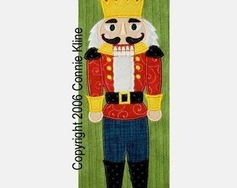 Christmas Standing Nutcracker applique-machine embroidery design