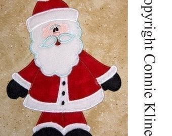 Standing Santa Christmas machine embroidery applique design   CUTE
