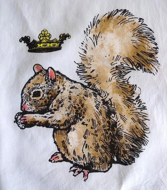 Squirrel Prince Tea Towel