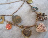Vintage Charm Necklace: 3 Strands
