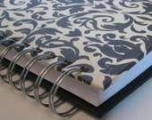 Unique Address Book/ Address Book With Tabs/ Address Book/ Email Address Book/ Address Phone Book/ Replacement Labels/ Contacts/Black Damask