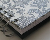 Coupon Organizer  Envelope Wallet with Black on White  Damask Cover