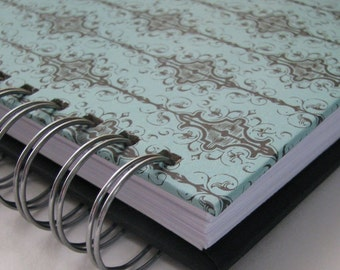 Address Book With Tabs/ Address Book/ Email Address Book/ Address Phone Book/ Unique Address Book/ Replacement Labels/ Turquoise Damask