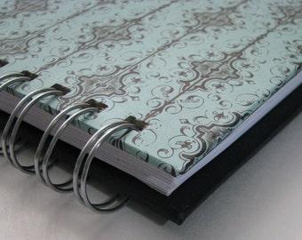 Password Book/ Password Log/ Password Organizer/ Password Keeper/ Password Journal/ Internet Password/ Password Notebook/ Turquoise Damask