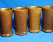 6 HAP California Redwood Wood Cups Tumblers