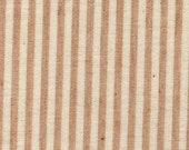 Organic Cotton Gingham Brown Stripe Flannel Fabric, by the yard