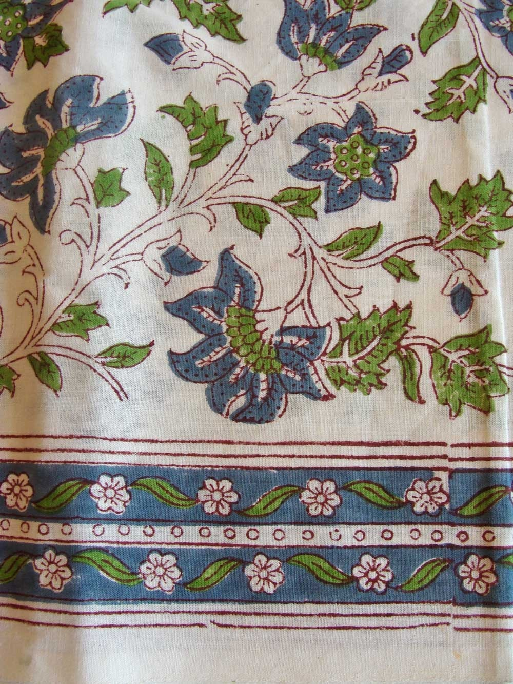 Items Similar To French Country Handmade Cotton Fabric 5