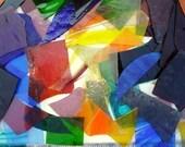 BIG 10 lbs box TRANSPARENT Colored Scrap Glass.