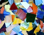 10 lbs Opalescent Scrap Glass -colored stained glass scrap MOSAIC.