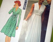 1974 Vintage Sewing Pattern - Simplicity 6672 - Goddess Gown - Size 18 - UNCUT