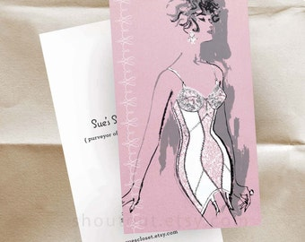 250 Custom Business Cards or Thank You Cards - 60s Lingerie
