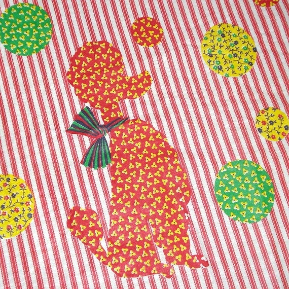 vintage poodle fabric with - photo #1