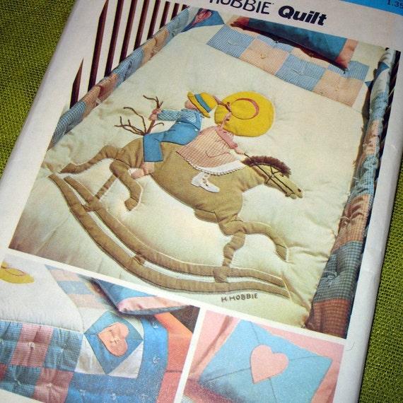 1974 Vintage Sewing Pattern - Holly Hobbie CRIB QUILT - UNCUT