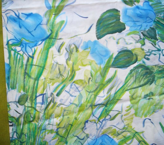 Vintage Cotton Fabric - Large Floral - Bouquet by Raoul Dufy - Fuller Fabrics