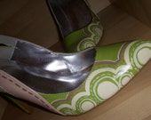 Mapped Circles Handpainted heels Sz. 10 RESERVED FOR JSIMPSO2