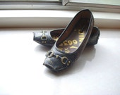 Golden Lace Hand Stamped Flats Sz 8.5