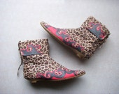 Leopard Hand Painted Pinup Booties