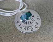Commemorative Hand stamped Sterling Silver pendant